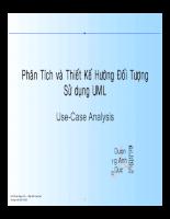 Giáo trình UML use Case Analystic