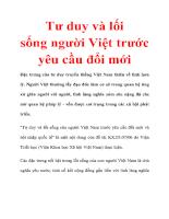 Tư duy và lối sống người Việt trước yêu cầu đổi mới