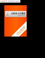 Tài liệu lập trình core Java