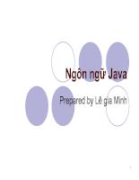 Slide ngôn ngữ Java