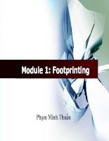 Bài giảng Foot Printing