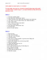Tổng hợp căn bản về C và C++