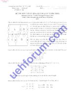 Đề thi môn tối ưu hóa( quy hoạch tuyến tính) 3