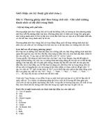 Giới thiệu các kỹ thuật ghi nhớ (Phần 2)