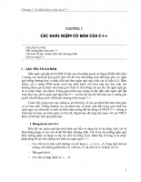 Các khái niệm cơ bản của C++
