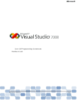 Visual Studio 2008 - English