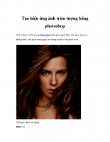 Tạo hiệu ứng ảnh trừu tượng bằng PhotoShop
