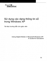 Cách sử dụng các dạng thông tin số trong Window XP