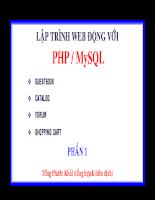 Lập trình web động với PHP/SQL