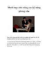 Mười mẹo nhỏ nâng cao kỹ năng phỏng vấn