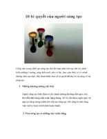 10 bí quyết của người sáng tạo