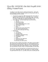Quy tắc 10/20/30 cho bài thuyết trình bằng PowerPoint