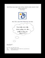 Bài Tiểu Luận Môn Maketing Căn Bản: Tìm hiểu cách tiến hành quảng cáo sản phẩm X-Men của công ty ICP