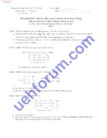 Đề thi môn tối ưu hóa( quy hoạch tuyến tính)