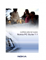 Nokia PC Suite UG bản Tiếng Việt