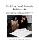 Xác định ưu - khuyết điểm trước buổi phỏng vấn