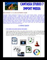 Camtasha Studio importmedia