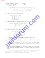 Đề thi môn tối ưu hóa( quy hoạch tuyến tính) 1