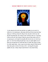 Khái niệm tư duy sáng tạo