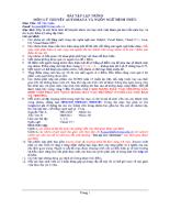 Bài tập lập trình môn lý thuyết Automata và ngôn ngữ hình thức