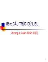 Danh sách list trong cấu trúc dữ liệu