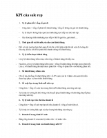 KPI của sale rep
