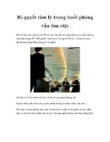 Bí quyết tâm lý trong buổi phỏng vấn tìm việc