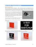 Vray for Sketch UP bản tiếng việt