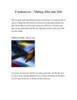 Freelancers - Những điều nên biết