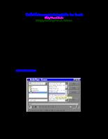 Thiết kế chương trình duyệt file âm thanh bằng VB