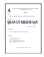 Công nghệ phần mềm - quản lý khách sạn.doc