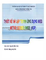 Slide bài giảng lập trình Web ASP