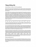 Tài liệu về mạng không dây Access Point