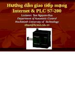 Giáo trình hướng dẫn giao tiếp mạng Internet và PLC