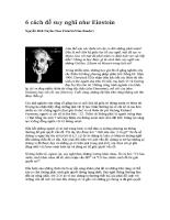 6 cách để suy nghĩ như Einstein