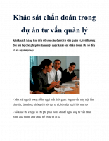 Khảo sát chẩn đoán trong dự án tư vấn quản lý