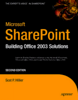 Microsoft Share Point Building Office 2003 Solutions 2nd Edition