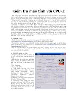 Kiểm tra máy tính với CPU-Z