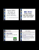 Slide bài giảng Bài toán khai thác tập phổ biến