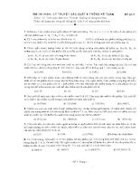 Đề thi môn : Lý thuyết  Xác suất & Thống kê toán 3