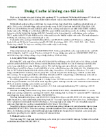 Hướng dẫn dùng cache để nâng cao tốc độ trong lập trình