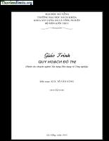Giáo trình Quy hoạch đô thị - KTS. Tô Văn Hùng.pdf