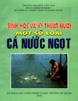 Tài liệu Sinh học và kỹ thuật nuôi một số loài cá nước ngọt.pdf