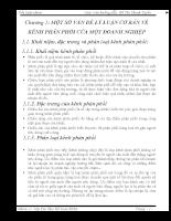 MỘT SỐ VẤN ĐỀ LÝ LUẬN CƠ BẢN VỀ KÊNH PHÂN PHỐI CỦA MỘT DOANH NGHIỆP.doc