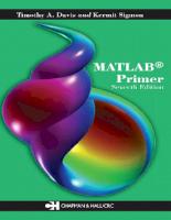MatLab Primer 7th Edition