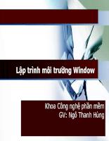 Bài giảng lập trình môi trường window