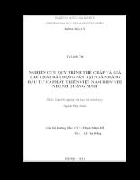 NGHIÊN CỨU QUY TRÌNH THẾ CHẤP VÀ GIÁ THẾ CHẤP BẤT ĐỘNG SẢN TẠI NGÂN HÀNG ĐẦU TƯ VÀ PHÁT TRIỂN VIỆT NAM BIDV CHI NHÁNH QUẢNG NINH (2).doc