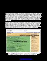 Search Engine Optimization - Hướng dẫn Tiếng Việt