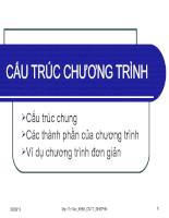 CẤU TRÚC CHƯƠNG TRÌNH Turbo pascal
