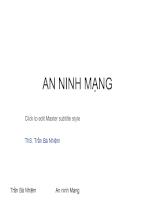 Slide bài giảng AN NINH MẠNG